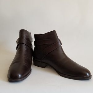 Danexx Ankle Boots 9M Deep Brown Leather Low Heel